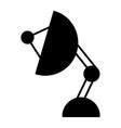satellite antenna solid icon sputnik antenna vector image vector image