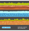 Seamless ground and landscape vector image