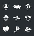 set aeronautics icons vector image vector image
