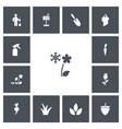 set of 13 editable agriculture icons includes vector image