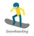 snowboarding icon isometric style vector image vector image