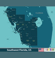 southwest florida united states vector image vector image
