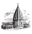 sumaree temple victory vintage engraving vector image