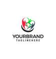 teamwork logo design concept template vector image vector image