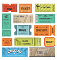 tickets design templates for movie theater vector image vector image