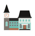 train station building icon vector image vector image