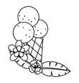 tropical summer cartoon vector image vector image