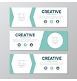Turquoise corporate business banner template vector image