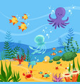 underwater background with ocean vector image vector image