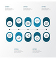 user outline icons set collection of play wait vector image vector image
