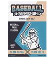 vintage brochure flyer poster baseball vector image