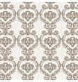 Vintage Floral ornament damask pattern vector image