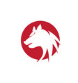 wolf logo template design vector image vector image