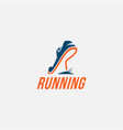 wordmark logo r for run logo running logo vector image