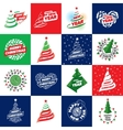 set of logos for Christmas vector image