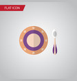 isolated dish flat icon baby plate element vector image