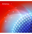 Abstract image of the USA flag vector image