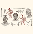 african tribes portraits of aborigines vector image