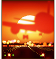 aircraft and the setting sun vector image vector image