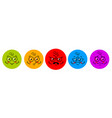 angry and smiley face sticker with eye emotion vector image