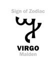 astrology sign of zodiac virgo the maiden vector image vector image