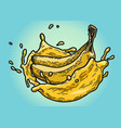 banana juice color vector image vector image