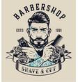 barbershop vintage print vector image
