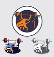 bench press vector image vector image