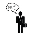 bill with man icon vector image vector image