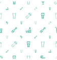 champagne icons pattern seamless white background vector image vector image