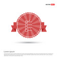 check list ok icon - red ribbon banner vector image vector image