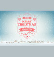 christmas and new year typography greetings vector image