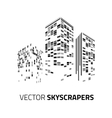 City background - skyscrapers with lights vector image vector image