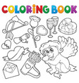 coloring book valentine theme 5 vector image vector image