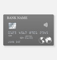 credit card realistic mockup vector image vector image