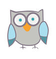Cute owl bird vector image