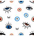 decorative eyes symbols seamless pattern vector image vector image
