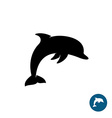 Dolphin simple black silhouette logo Sea freedom vector image vector image