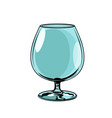 empty glass goblet vector image