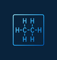 ethane chemical structure linear colored vector image vector image