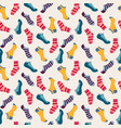 fashion seamless pattern with colored socks vector image vector image