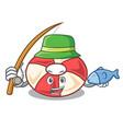 fishing swim tube mascot cartoon vector image vector image