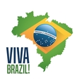 Flag and map of brazil design vector image vector image