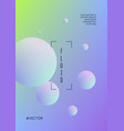fluid poster with round shapes vector image