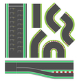 Formula race track line set vector image vector image