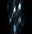 fractal crystal shine abstract dark background vector image vector image