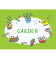 Gardening banner with flower vector image