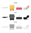 goods and cargo symbol set vector image vector image