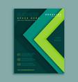 green geometric flyer poster design template vector image vector image