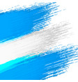 grunge background in colors of argentinian flag vector image